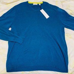 Calvin Klein Men's Blue Sweater Size: XL New